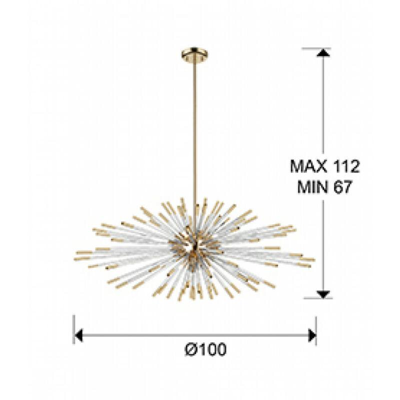 Schuller 381635D led izzó g9 arany