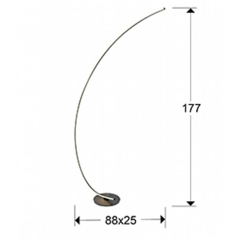 Schuller LINEA 524278 állólámpa fényerőszabályzós  fekete