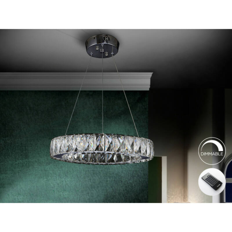 Schuller Diva 854275D csillárok nappaliba  króm   kristály   acél   kristály