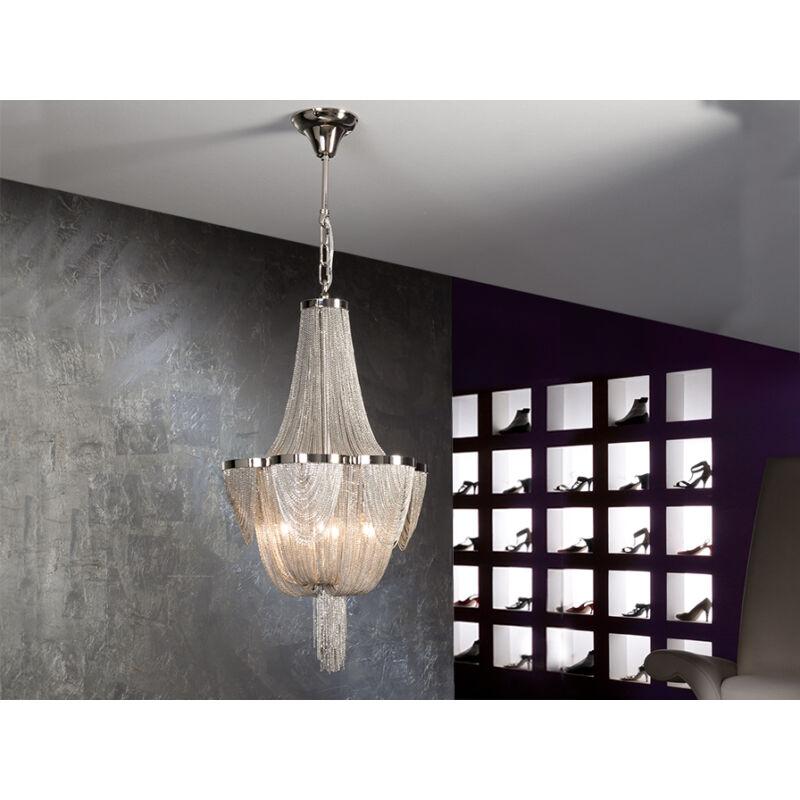 Schuller Minerva 872611 modern csillár  nikkel   fém