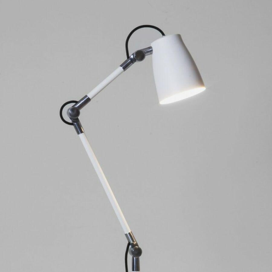 Astro Atelier 1224002 Csiptetős asztali lámpa fehér fehér 1 x 28W Max E27/ES 80 x 12,2 x 16 cm