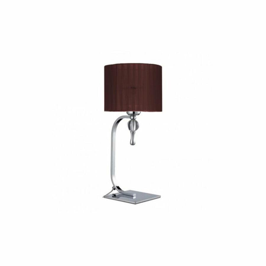 Azzardo Impress AZ-2903 Asztali lámpa króm barna 1 x E27 max. 60W 42 x 18 x 14 cm