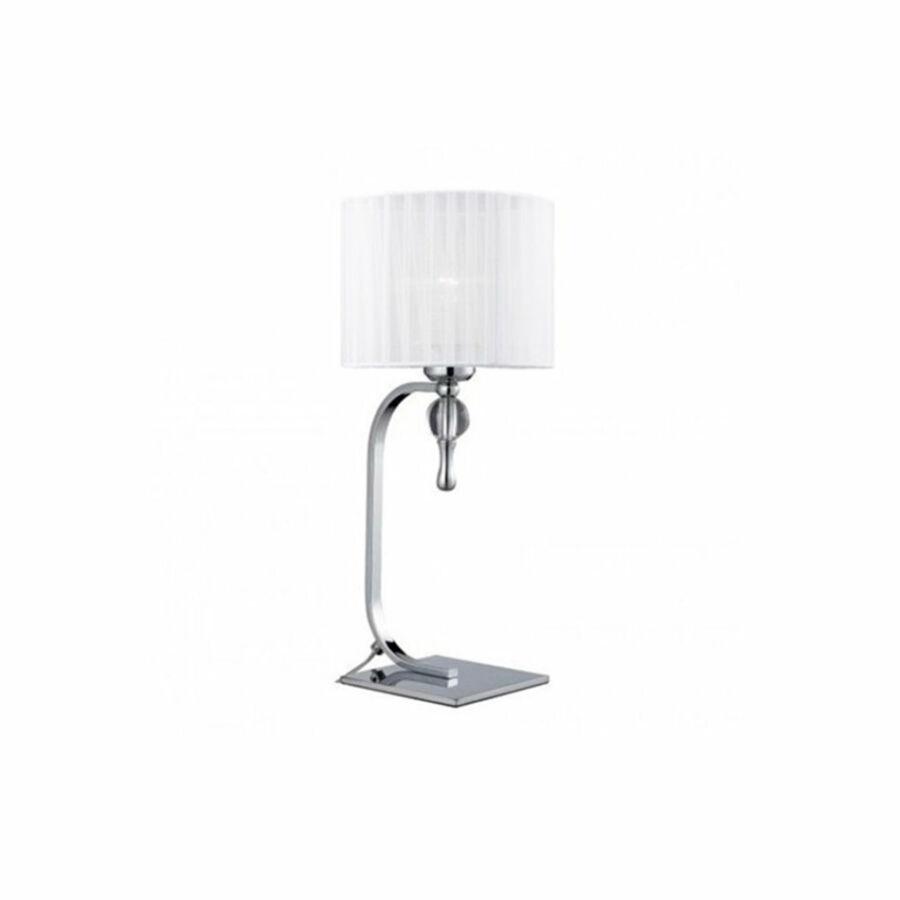 Azzardo Impress AZ-1107 Asztali lámpa króm fehér 1 x E27 max. 60W 24 x 18 x 14 cm