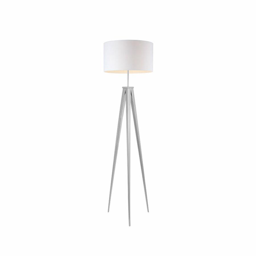 Azzardo Sintra AZ-2412 Állólámpa króm fehér 1 x E27 max. 60W 145 x 40 x 40 cm
