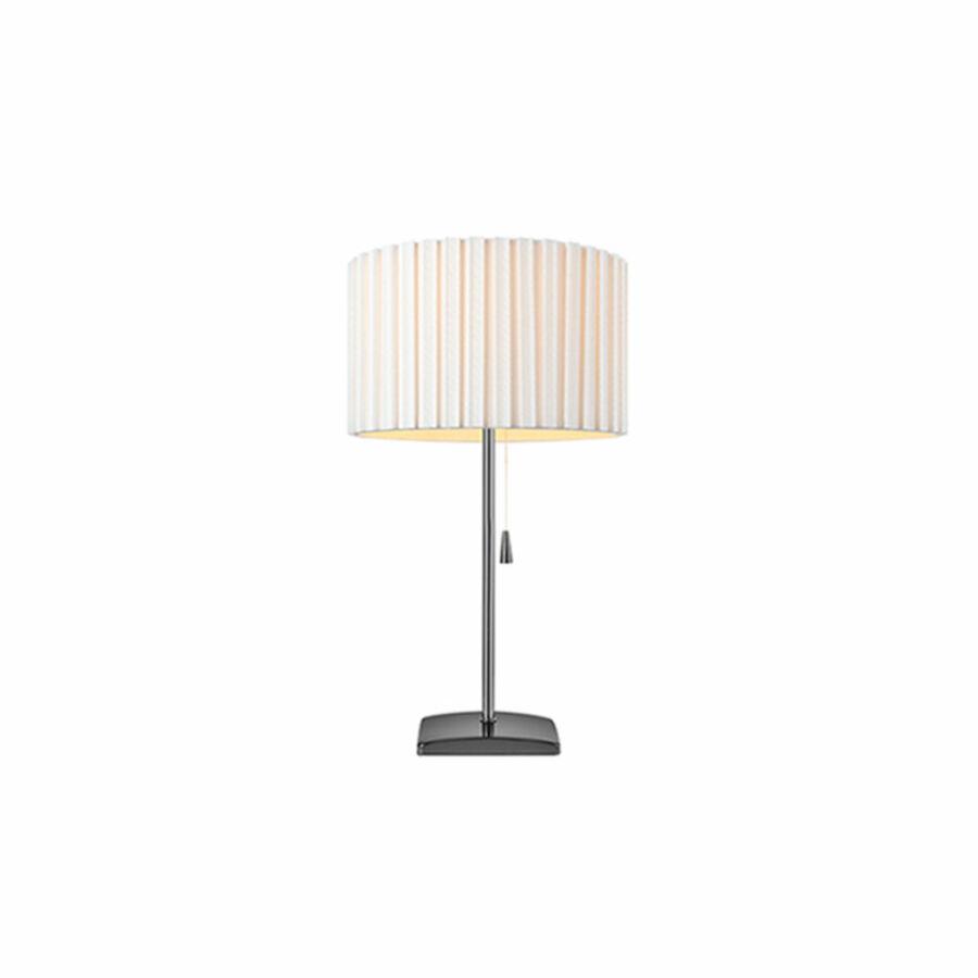 Azzardo Penelopa AZ-2392 Éjjeli asztali lámpa króm fehér 1 x E27 max. 60W 46,5 x 27 x 27 cm