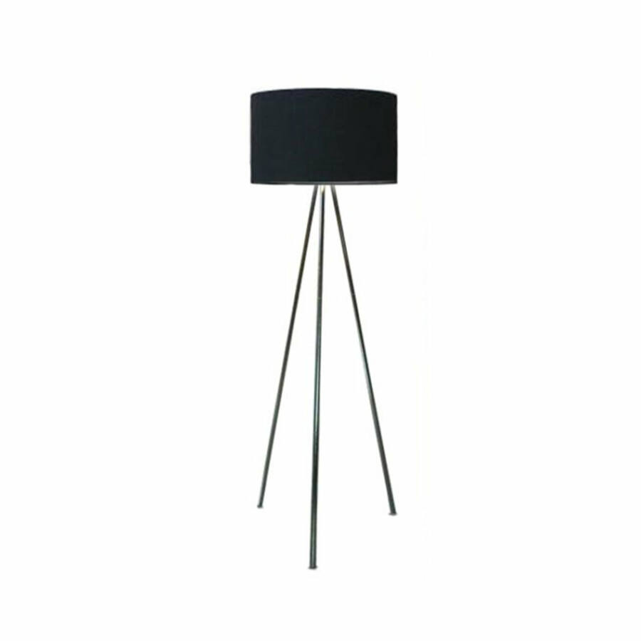 Azzardo Finn AZ-1039 Állólámpa króm fekete 1 x E27 max. 60W 150 x 45 x 45 cm