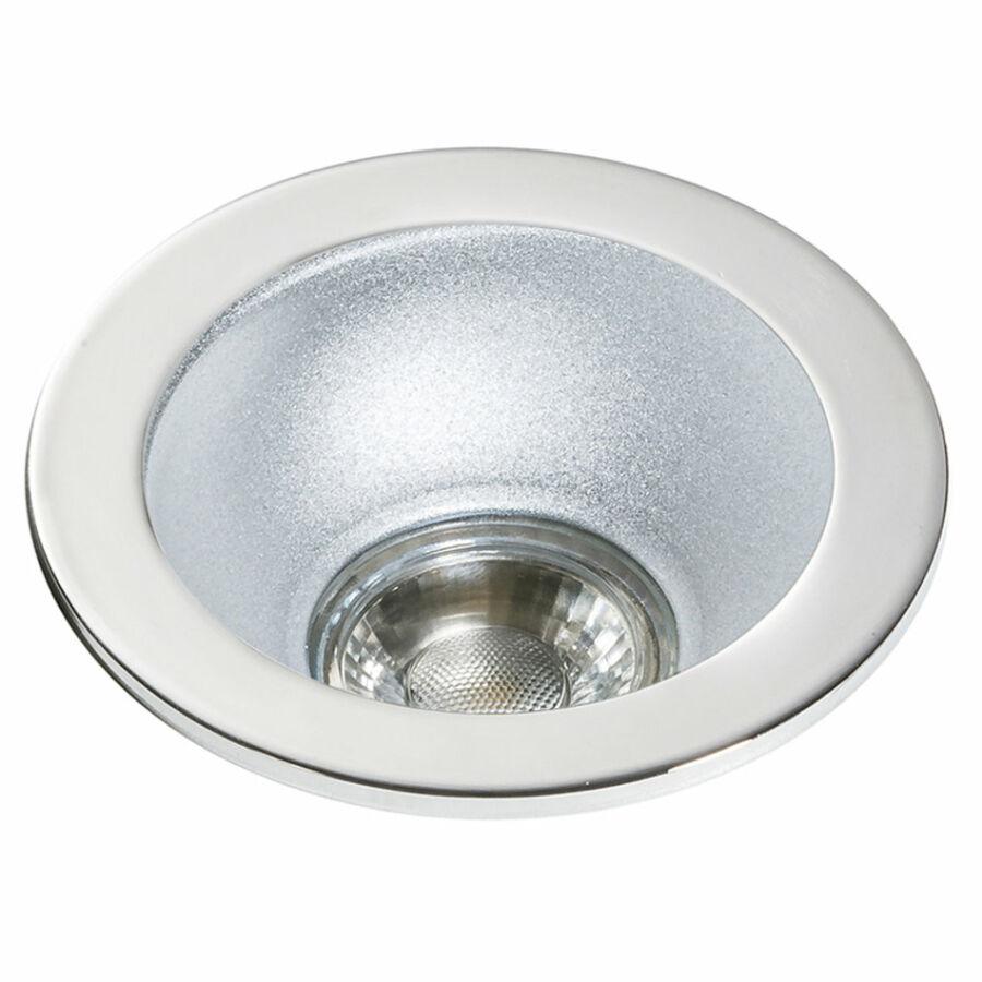 Azzardo Remo AZ-GM2118R-WH-ALU Álmennyezetbe építhető lámpa fehér 1 x GU10 max. 50W 4,2 x 11,5 x 11,5 cm