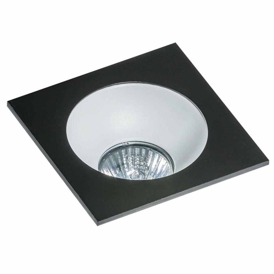 Azzardo Hugo AZ-GM2118S-BK-WH Álmennyezetbe építhető lámpa fekete 1 x GU10 max. 50W 4,2 x 11,5 x 11,5 cm