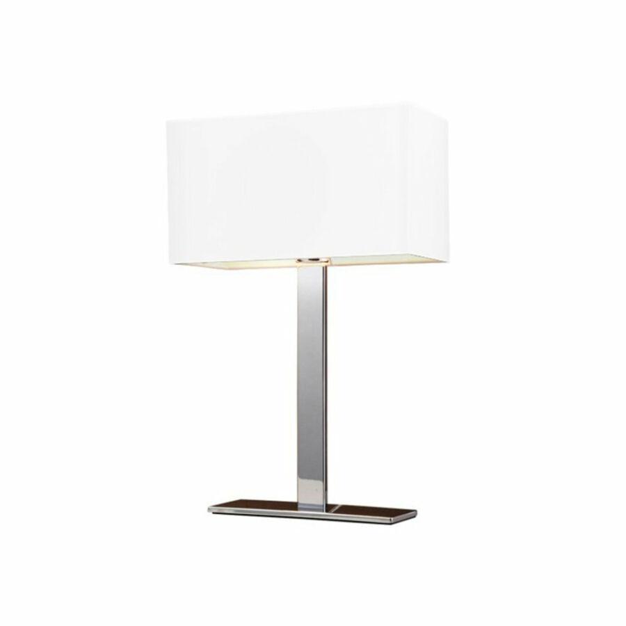 Azzardo Martens AZ-1527 Éjjeli asztali lámpa króm fehér 1 x E27 max. 60W 50 x 32 x 16 cm