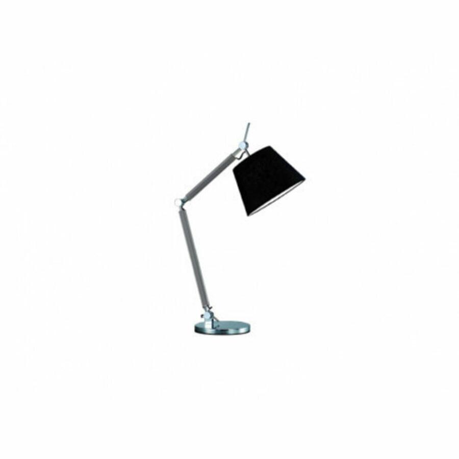 Azzardo Zyta AZ-MT2300-S-AL-BK Éjjeli asztali lámpa alumínium fekete 1 x E27 max. 60W 79 x 70,5 x 20 cm
