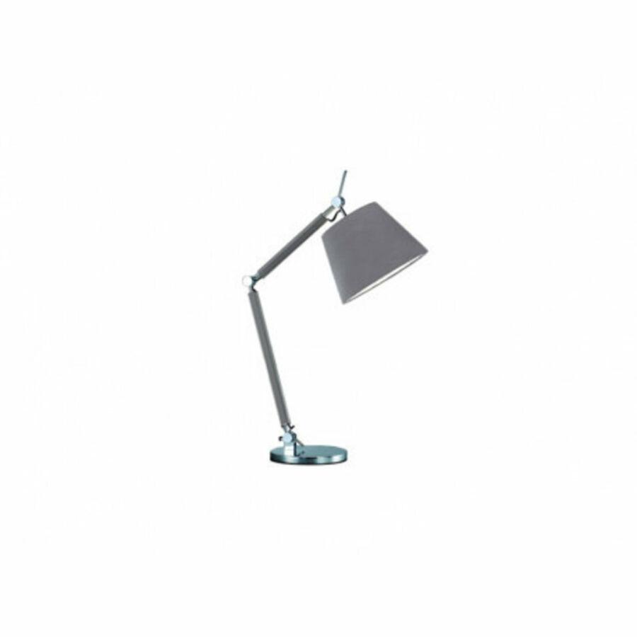 Azzardo Zyta AZ-MT2300-S-AL-GR Éjjeli asztali lámpa alumínium szürke 1 x E27 max. 60W 79 x 70,5 x 20 cm