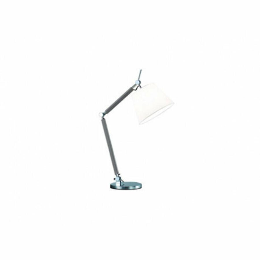 Azzardo Zyta AZ-MT2300-S-AL-WH Éjjeli asztali lámpa alumínium fehér 1 x E27 max. 60W 79 x 70,5 x 20 cm
