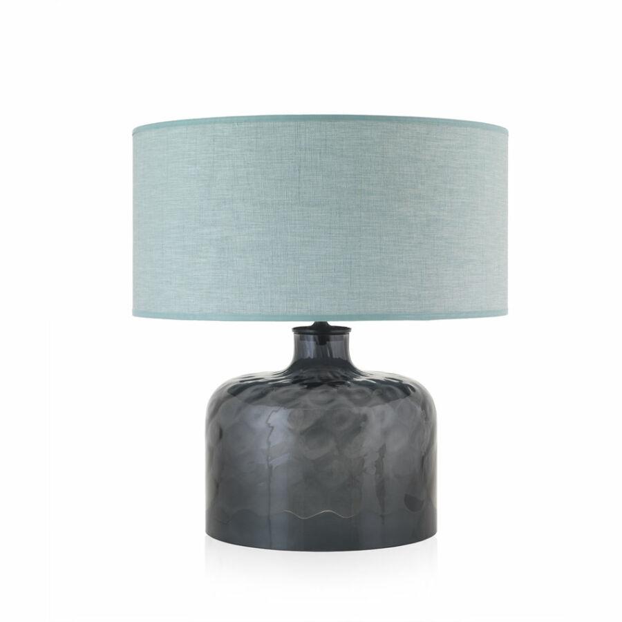 Envy 4926 Asztali lámpa GARON füstszínű zöld üveg textil
