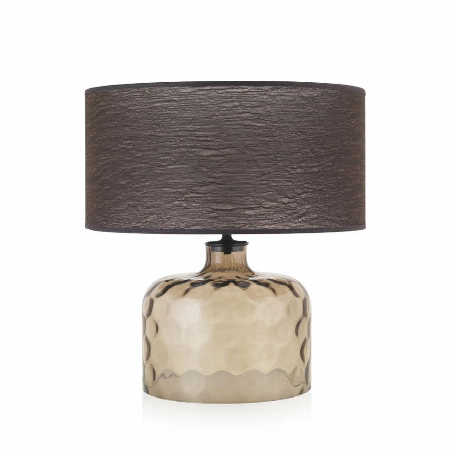 Envy 4927 Asztali lámpa GARON topáz barna üveg textil
