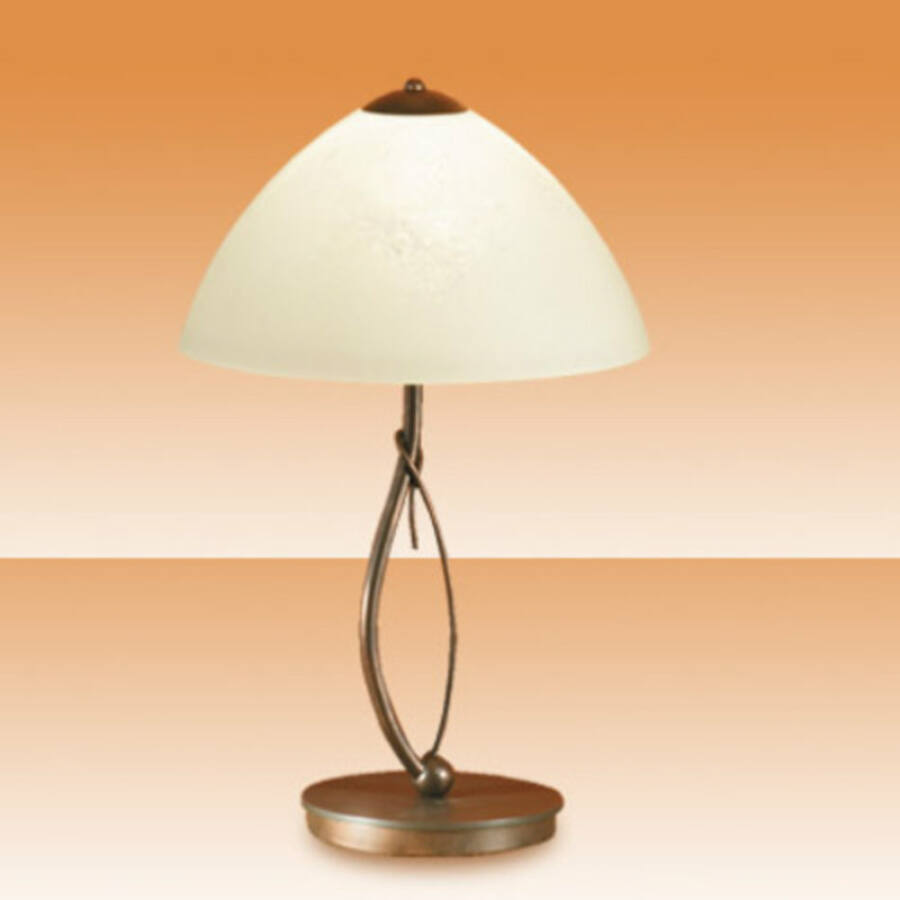 Fabas Luce BYRON 2497-30-146 Asztali lámpa bronz borostyán fém üveg