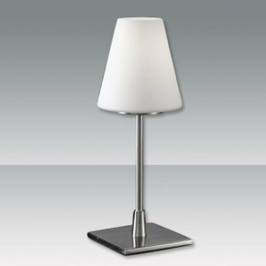 Fabas Luce LUCY 2653-30-178 Asztali lámpa nikkel 1 x max 60 E14 W 36x14 cm