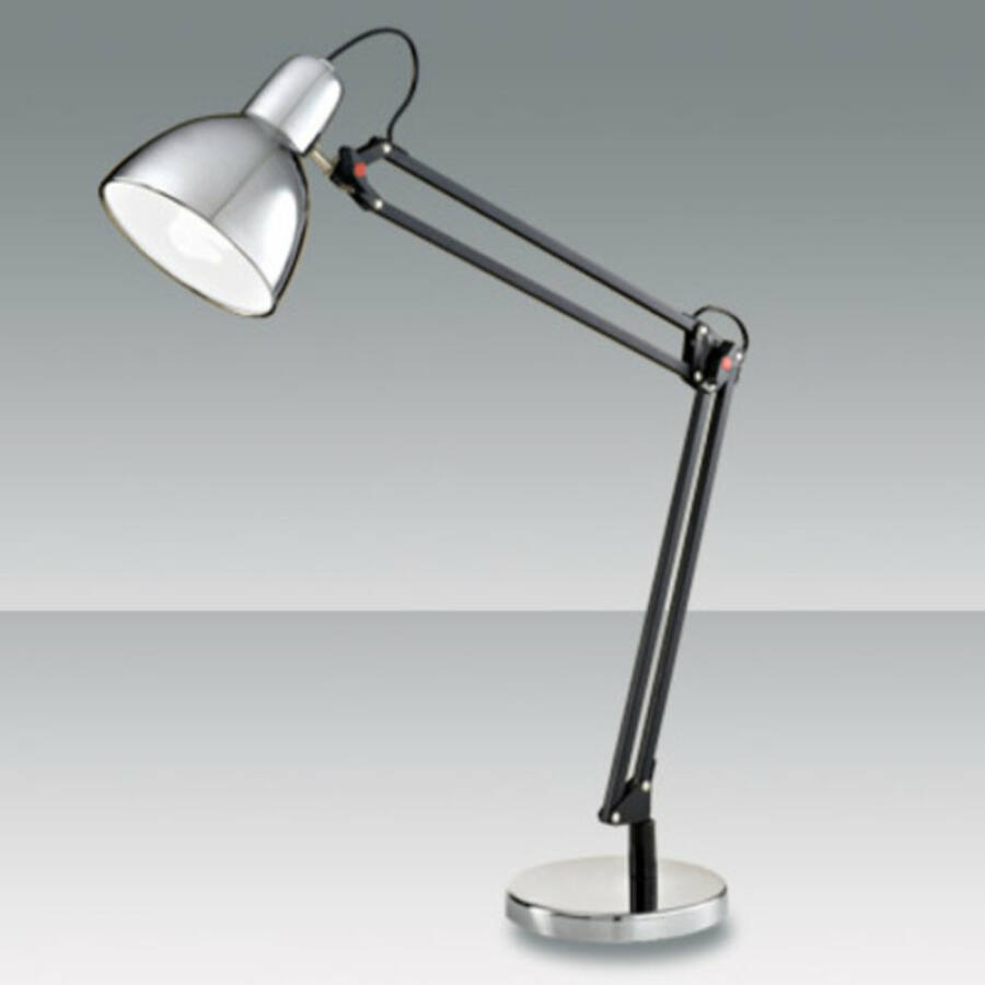 Fabas Luce LISETTA 3015-30-138 Íróasztal lámpa króm 1 x max 40 E27 W 80x90 cm