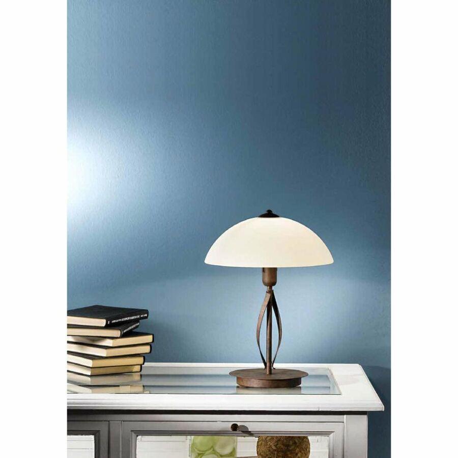 Fabas Luce QUEBEC 3043-30-171 Asztali lámpa sötétrozsda 1xE14 max. 60W d18x39 cm