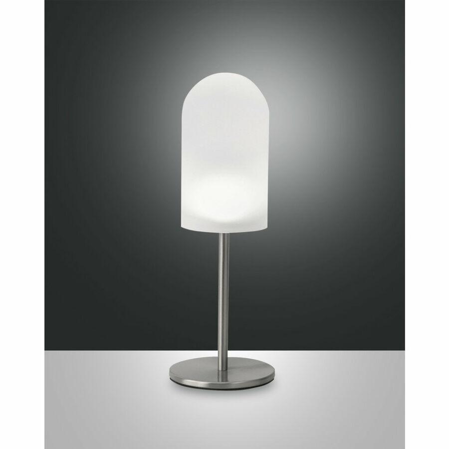 Fabas Luce DRESS 3353-35-178 Ledes asztali lámpa szatinált nikkel LED 5W Ø10x28cm