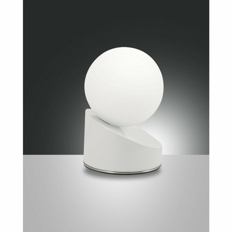 Fabas Luce GRAVITY 3360-30-102 Ledes asztali lámpa fehér LED 5W Ø10x15cm