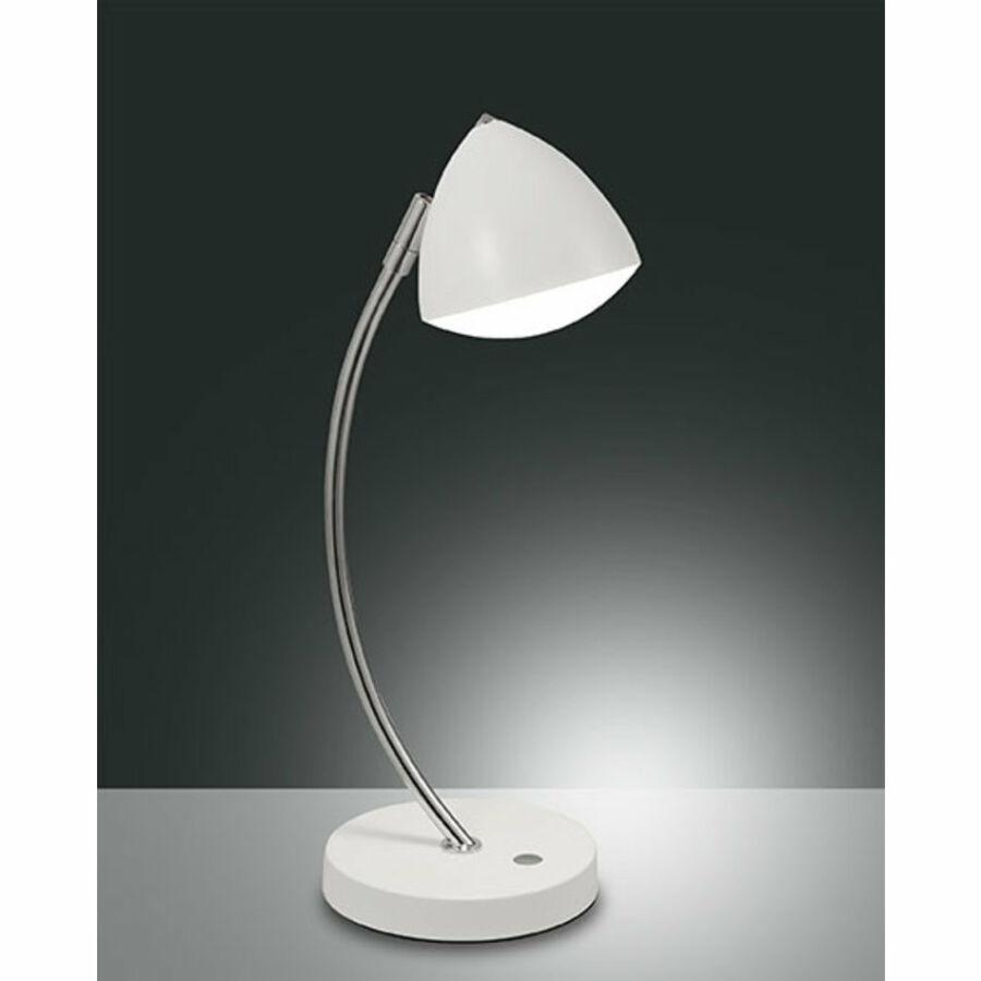 Fabas Luce BIKE 3297-30-102 Asztali lámpa fehér LED 8W Ø13x42cm