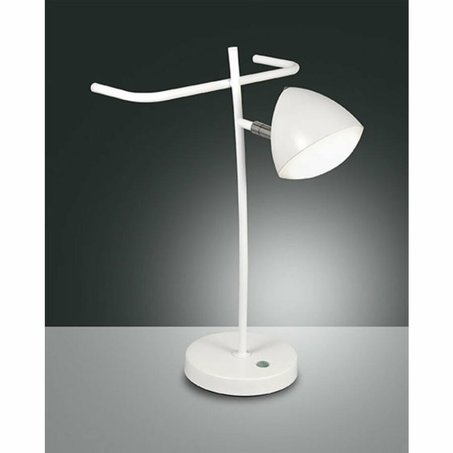 Fabas Luce BIKE 3297-35-102 Asztali lámpa fehér LED 8W 38x25xØ13cm