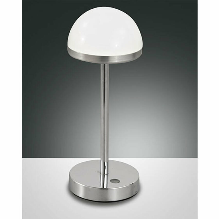 Fabas Luce DOLI 3293-30-138 Asztali lámpa fehér LED 8W Ø10x26cm