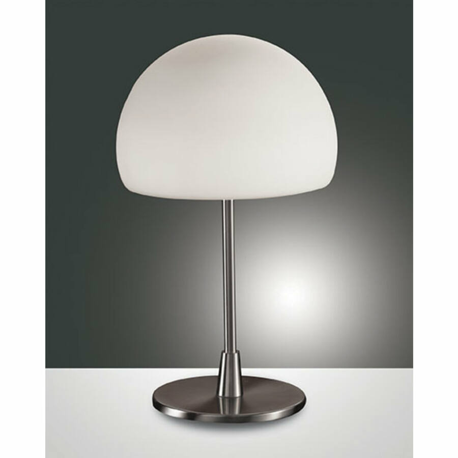 Fabas Luce GAIA 2654-30-178 Asztali lámpa nikkel 1x E14 40W D19x36 cm