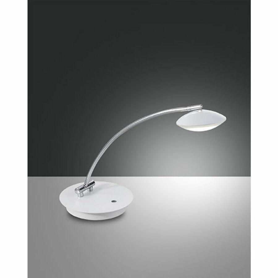 Fabas Luce HALE 3255-30-102 Ledes asztali lámpa fehér LED 8W 18x48x43cm