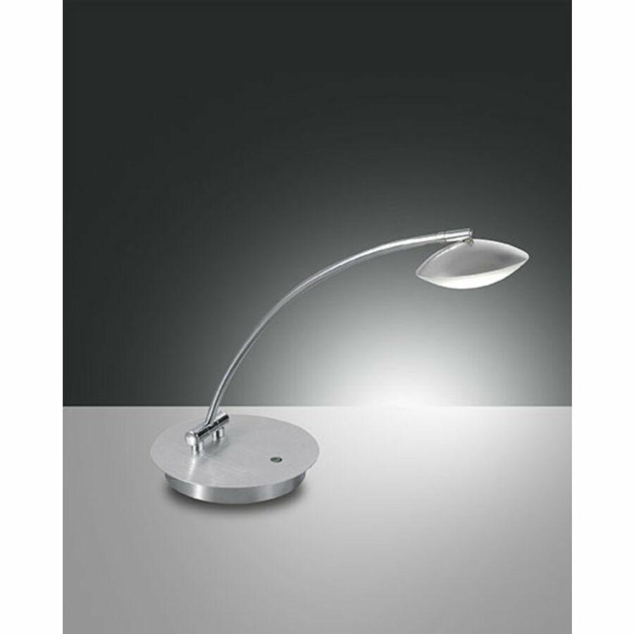 Fabas Luce HALE 3255-30-212 Ledes asztali lámpa szálcsiszolt alumínium LED 8W 18x48x43cm