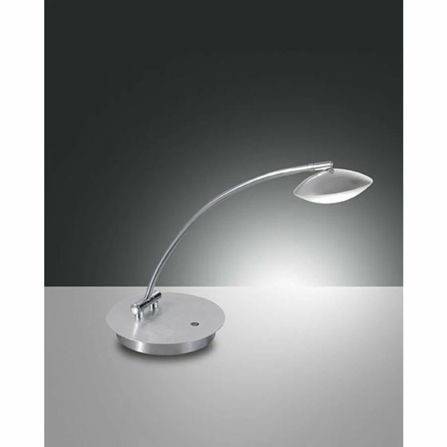 Fabas Luce HALE 3255-30-212 Ledes asztali lámpa szálcsiszolt alumínium fém