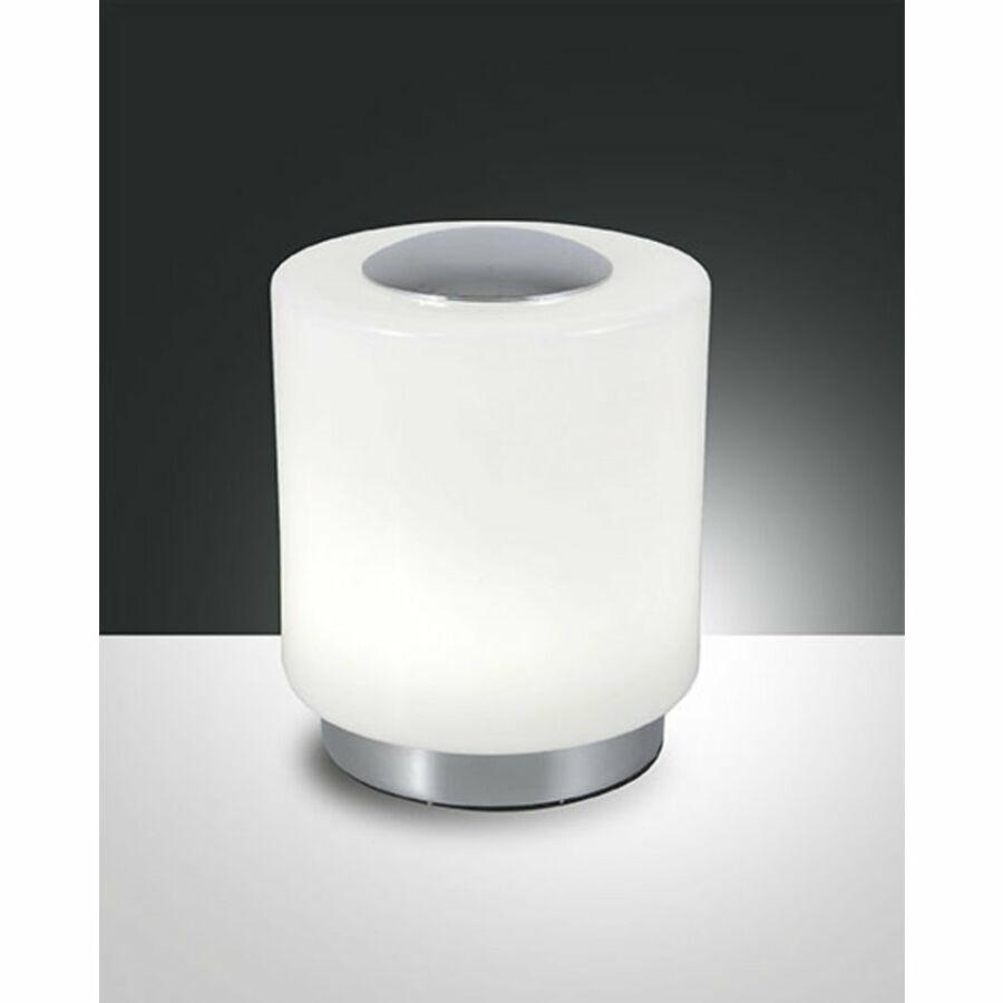 Fabas Luce SIMI 3257-30-138 Ledes asztali lámpa króm LED 8W Ø12x14cm
