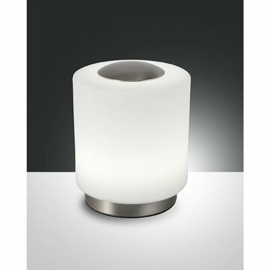 Fabas Luce SIMI 3257-30-178 Ledes asztali lámpa opál LED 8W Ø12x14cm