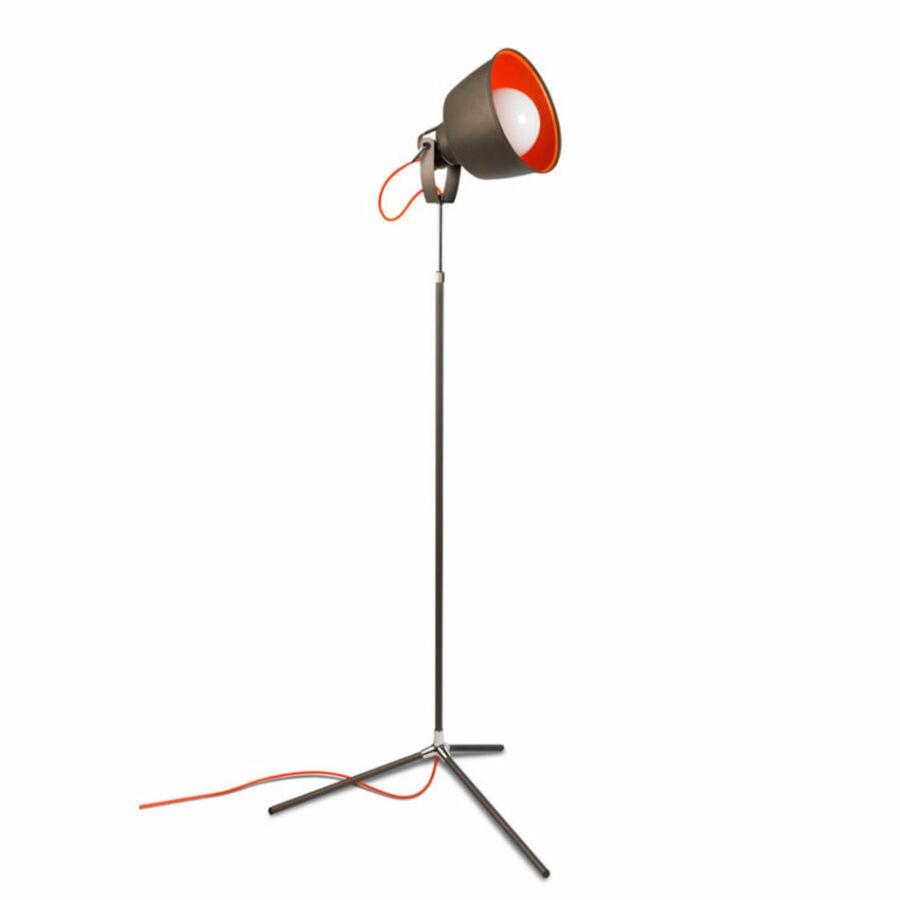 Leds-C4 VINTAGE 25-0240-21-Z5 Állólámpa króm 1xE27 max. 100W Ø71,2x130-166 cm