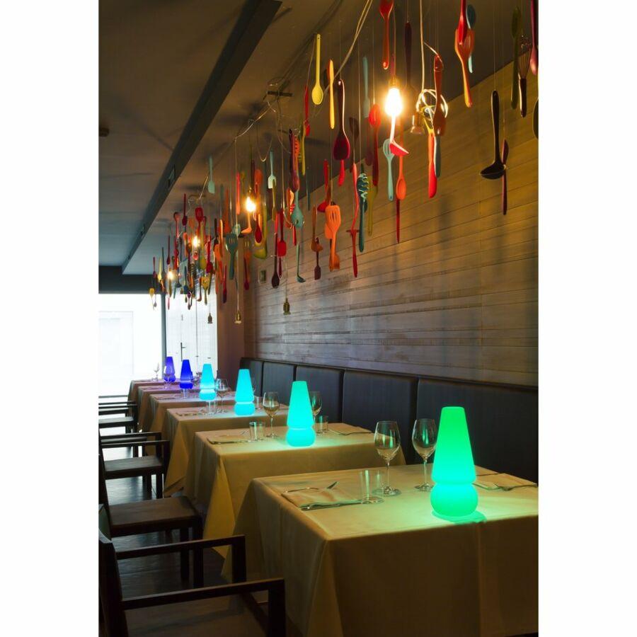 LineaLight 15000 Asztali lámpa BABY MARGE LED átlátszó üveg