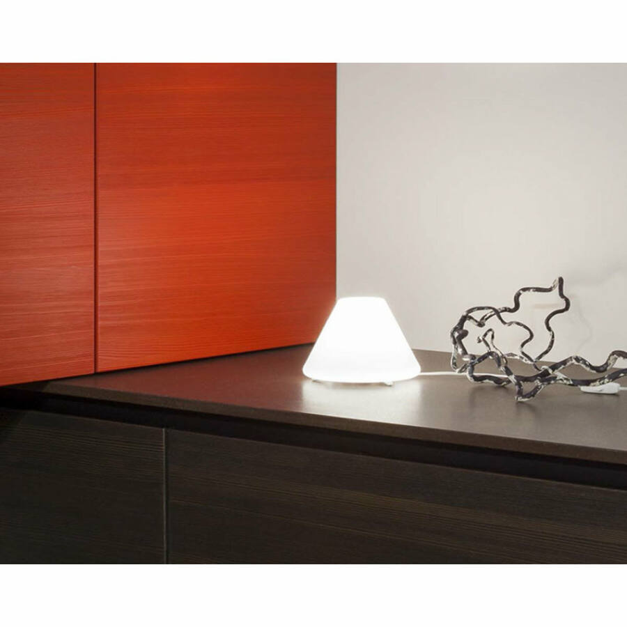LineaLight BLOG LED 342B601 Asztali lámpa fehér 1xE14 LED 4W Ø20x14 cm