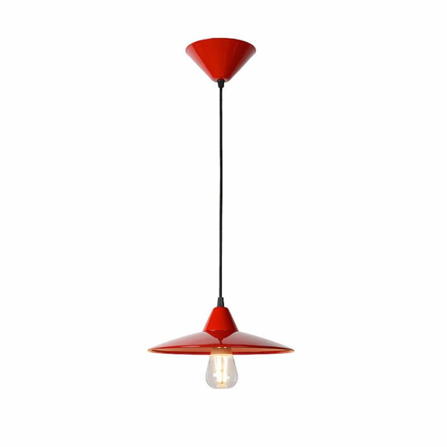 Lucide PETER 11400/08/32 Egyágú függeszték piros piros LED - 1 x E27 max.  8W