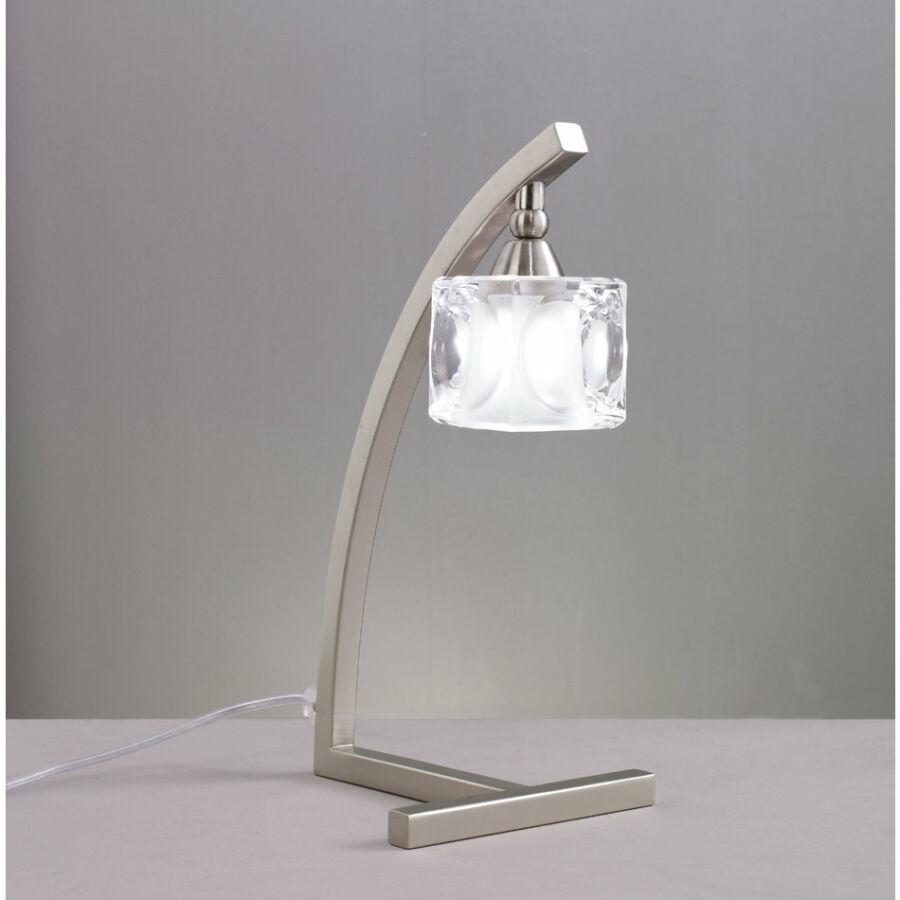 Mantra 0004031 Asztali lámpa CUADRAX szatinált nikkel fém