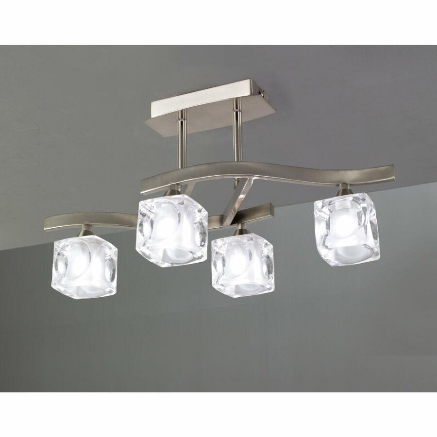 Mantra CUADRAX 0004049 Mennyezeti lámpa szatinált nikkel fém