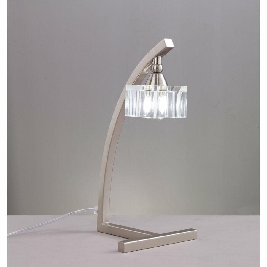 Mantra CUADRAX 1114 Asztali lámpa szatinált nikkel fém
