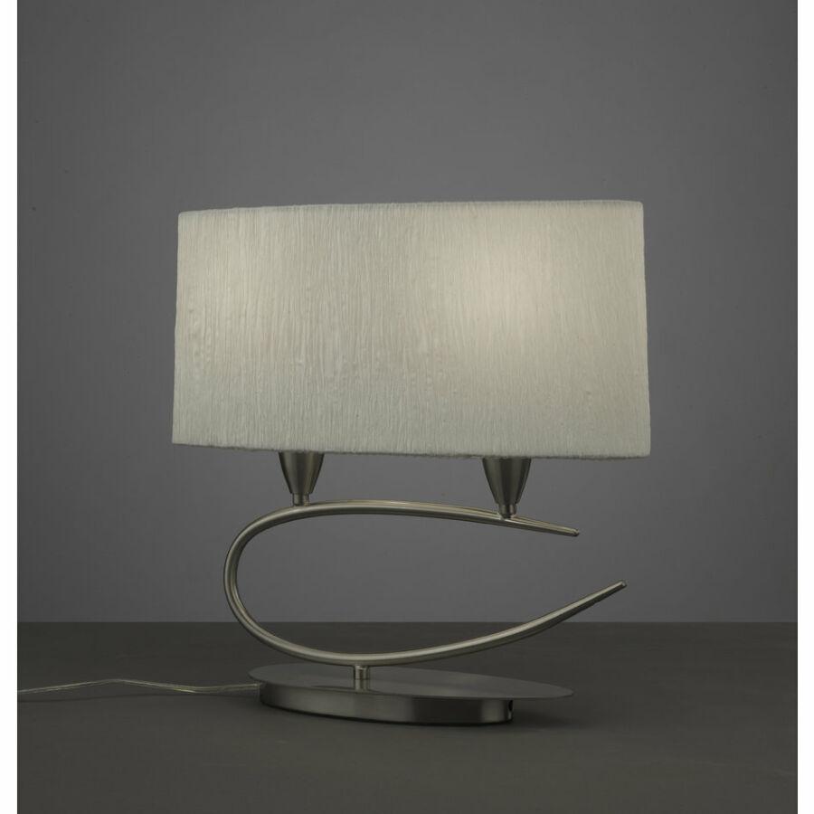 Mantra 3703 Asztali lámpa LUA szatinált nikkel fém
