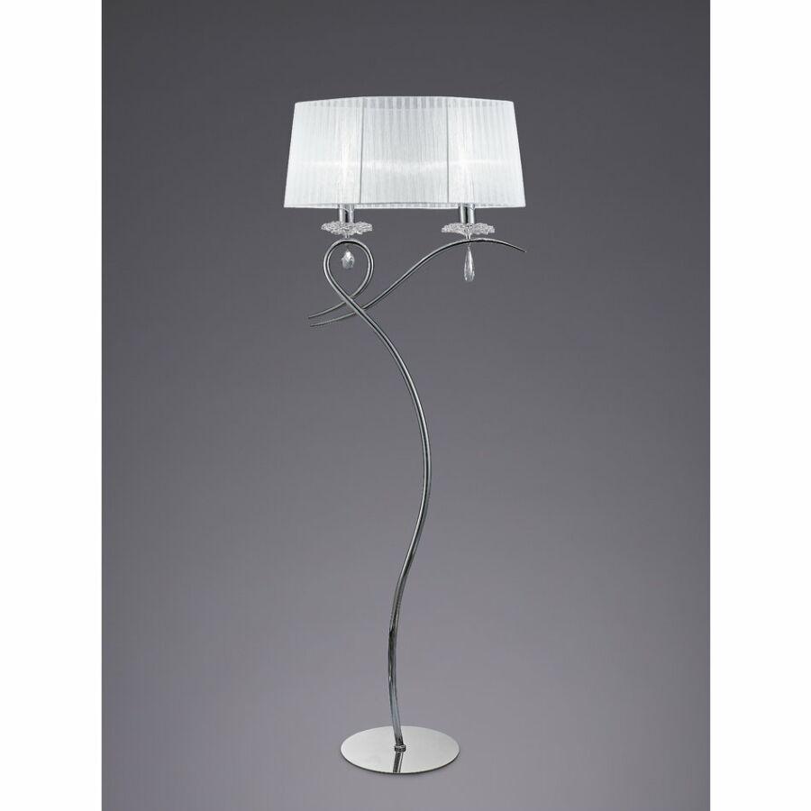 Mantra LOUISE 5280 Állólámpa króm fehér 2xE27 max. 23W 600x300x1650 mm