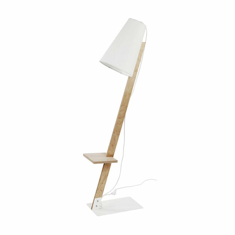 Nowodvorski TORINO TL-6878 Állólámpa fa fehér 1xE27 max. 60W Ø30x43x160cm